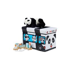 relaxdays Spielzeugtruhe Spielzeugkiste faltbar mit Deckel