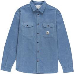 Element - Builder Ls Corduroy Faded Denim - Hemden - Größe: M