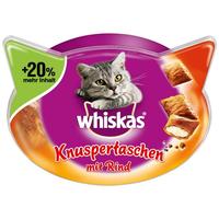 Whiskas Knuspertaschen mit Rind 3 x 72 g