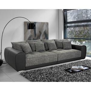 Bigsofa Megasofa Xxl Sofa Moldau Couch Schwarz Und Grau Mit Federkern Und Kissen