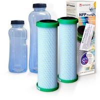 Carbonit NFP Premium Filterpatronen 2 St. + Trinkflaschen 2 St.