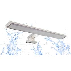 TRANGO Spiegelleuchte, 2247 Modern IP44 LED Spiegelschrankleuchte *EASY* Produktlänge: 400 mm - 8 Watt 4000K neutralweiß, Badleuchte, Schminklicht, Badezimmer Schrankleuchte, Aufbauleuchte