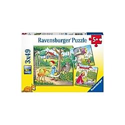 Rapunzel  Rotkäppchen & Froschkönig (Kinderpuzzle)