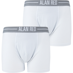 Alan Red Boxershorts Weiß 2er-Pack - Weiß Größe L