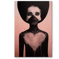 Wall-Art Metallbild Metallbild Liebe und Maske, (1 Stück) 70 cm x 0,3 cm x 100 cm