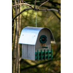 dobar green label Nistkasten Rundhaus, BxTxH: 14x22x20 cm, Kiefer, mit 3 Einfluglöchern