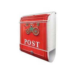 banjado Briefkasten Stahl Postkasten Nostalgie, 39x47x14cm
