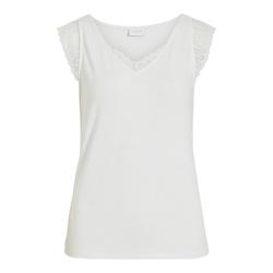 Vila T-Shirt VISONILLA LACE DETAIL S/L TOP/SU - XL