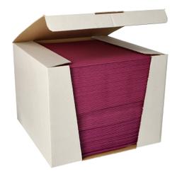 Papstar ROYAL Collection Servietten, 40 x 40 cm, lila, 3-lagige Premium-Servietten in Stoffoptik, 1 Spenderbox = 100 Tücher