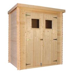 Holz Gartenhaus ULURU mit Flachdach B 184 x T 128 cm, 19 mm