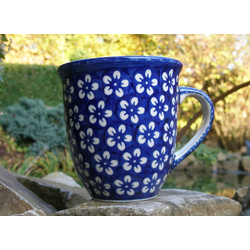 Pott, 400 ml, Ø 10,5 cm, ↑ 11 cm, Bunzlau blau, BSN J-1064