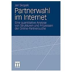 Partnerwahl im Internet. Jan Skopek  - Buch