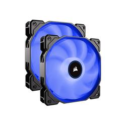 Corsair Gehäuselüfter AF140 LED-Lüfter, 2er Pack – blau
