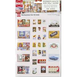 Busch 6002 H0 Werbeplakate-Set Bausatz