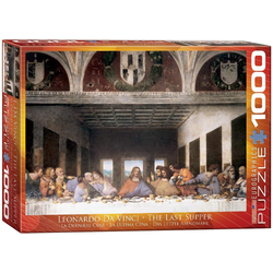 empireposter Puzzle Leonardo da Vinci - Das letzte Abendmahl - 1000 Teile Puzzle - Format 68x48 cm, 1000 Puzzleteile