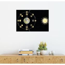 Posterlounge Wandbild, Entstehung der Mondphasen 60 cm x 40 cm