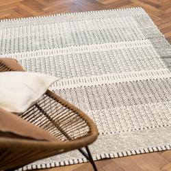 David Fussenegger Teppich Goliat 'Marokko' 150 x 200 cm Rohweiß