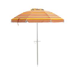 COSTWAY Sonnenschirm Marktschirm, Gartenschirm, Terrassenschirm, 200cm, mit Tragetasche für Garten, Strand, Outdoor orange