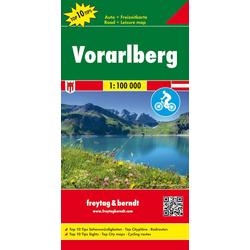 Vorarlberg Top 10 Tips Autokarte 1:100.000