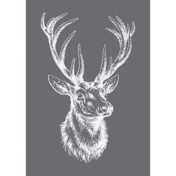 Rayher Siebdruckschablone Hirsch grau