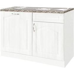 wiho Küchen Spülenschrank 110 cm breit, inkl. Tür für Geschirrspüler weiß