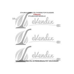 eVendix Staubsaugerbeutel Staubsaugerbeutel kompatibel mit Clatronic BS 1260, BSS 1261 (R), 10 Staubbeutel, kompatibel mit SWIRL R23, passend für Clatronic