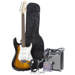 Fender Affinity Strat Set mit FM10G BSB brown sunburst