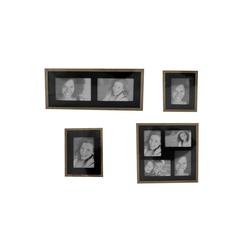 HTI-Line Galerierahmen Bilderrahmenset Fotogalerie Fotorahmen, (4 Stück), Bilderrahmen-Set braun