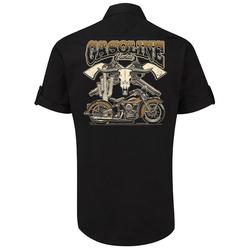 GASOLINE BANDIT® Kurzarm-Hemd mit aufrollbaren Ärmeln