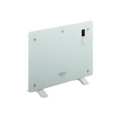 Camry Konvektor CR 7721 Konvektionsheizung, 1500 W, Konvetor Heizung, mit Fernbedienung, Touch-Display, Timerfunktion, Glasheizung, 1500 Watt, Weiß