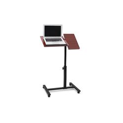 relaxdays Laptoptisch Laptoptisch höhenverstellbar Holz rot
