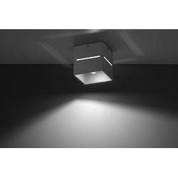Licht-Erlebnisse Strahler LORUM Aufbaustrahler Bauhaus Aluminium H:10cm Spot Flur Wohnzimmer Treppe (1-St)