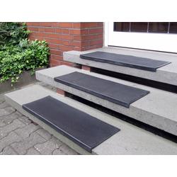 Stufenmatte Gummi, Andiamo, rechteckig, Höhe 7 mm, Gummi-Stufenmatten, Treppen-Stufenmatten, 5 Stück, In- und Outdoor geeignet