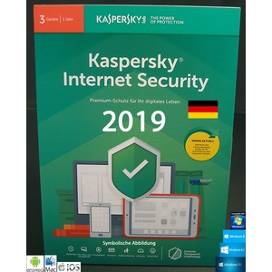 Kaspersky Internet Security 2019 Vollversion 3 Geräte PC/Mac/Android + Anleitung