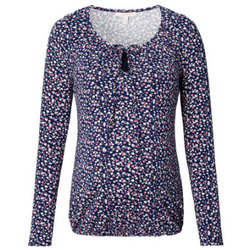 ESPRIT Stillshirt blau Blumenmuster