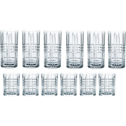 Nachtmann Gläser-Set Highland (12-tlg), Kristallglas mit markantem Schliff