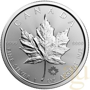 1 Unze Silbermünze Maple Leaf
