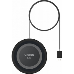 Vision Ultra Thin Qi Charger (10W), Wireless Charger, Schwarz