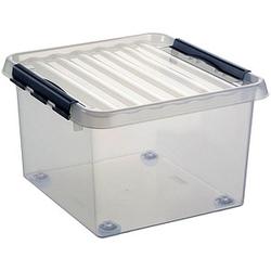 sunware Aufbewahrungsbox 26,0 l transparent 40,0 x 40,0 x 28,0 cm