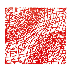 KOZIOL Raumteiler Silk B1 4-tlg. Transparent Rot