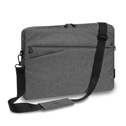 PEDEA Laptoptasche 13,3 Zoll (33,8cm) FASHION Notebook Umhängetasche mit Schultergurt, grau