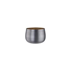 BUTLERS Teelichthalter DUSK Teelichthalter Höhe 6,5cm silberfarben