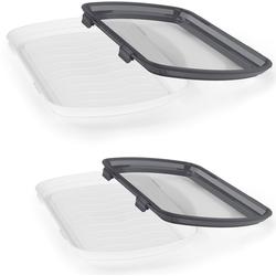 MAXXMEE Aufbewahrungssystem, (Set, 4 tlg.) grau Küchenhelfer Aufbewahrungssystem