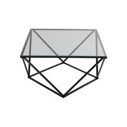KARE Couchtisch Couchtisch Cristallo Schwarz 80x80