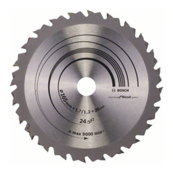 Bosch Kreissägeblatt Speedline Wood 165 x 20/16 x 1,7 mm 24