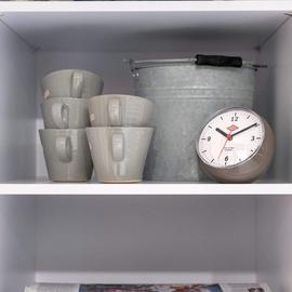 Wesco Classic Line Küchenuhr Limegreen Wanduhr mit Timer grün limette Kunststoff