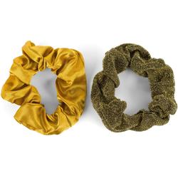 styleBREAKER Haargummi 2-Teiliges Scrunchie Haargummi Set, 2-tlg., 2-Teiliges Scrunchie Haargummi Set gelb