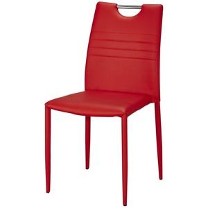 Stuhl ¦ rot ¦ Maße (cm): B: 43 H: 91 T: 51 » Möbel Kraft