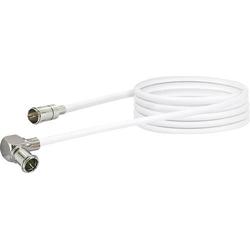 Schwaiger Antennen Anschlusskabel [1x F-Quickstecker - 1x Mini-DAT-Stecker] 1.50m 90 dB Weiß