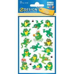Sticker 76x120mm Papier 3 Bogen Motiv Frosch